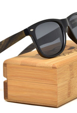 GoWood Sunglasses: Ebony Wood  w/ Black Polarized Lenses LA-E1-G