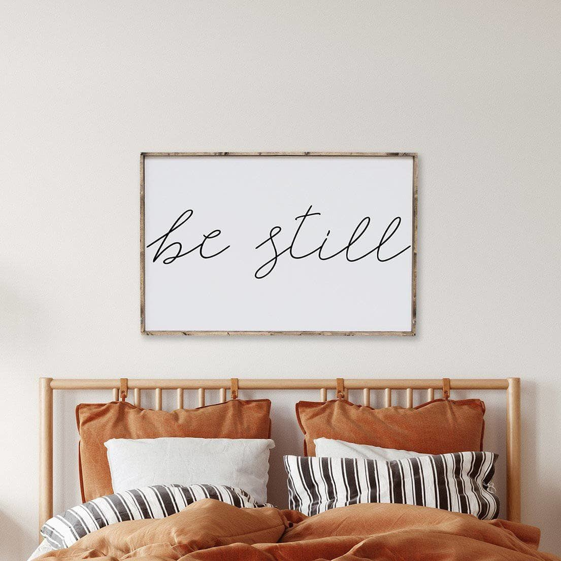 Be Still Wood Sign