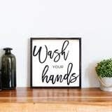Wash Your Hands Wood Sign