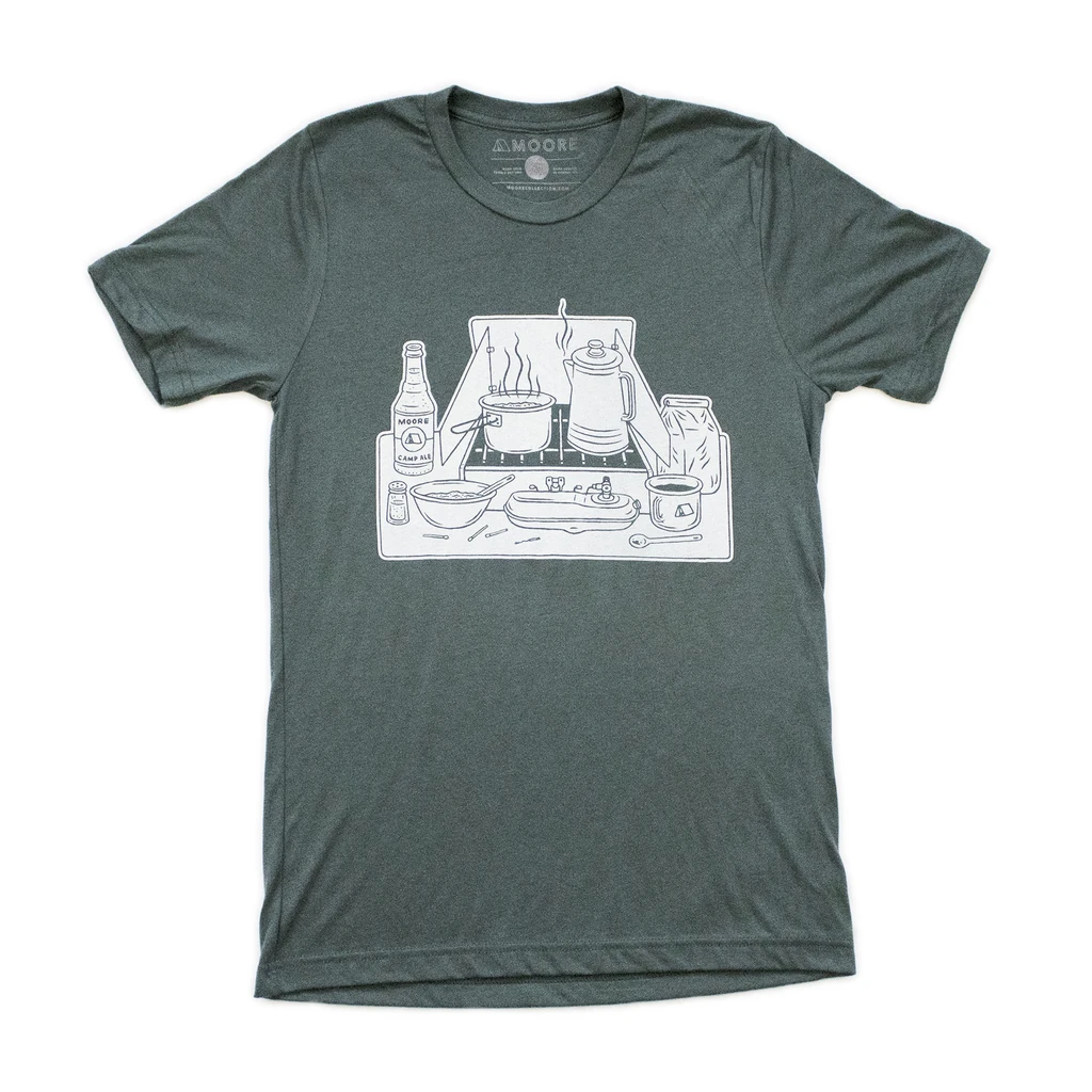 moore collection Stove Tee Green