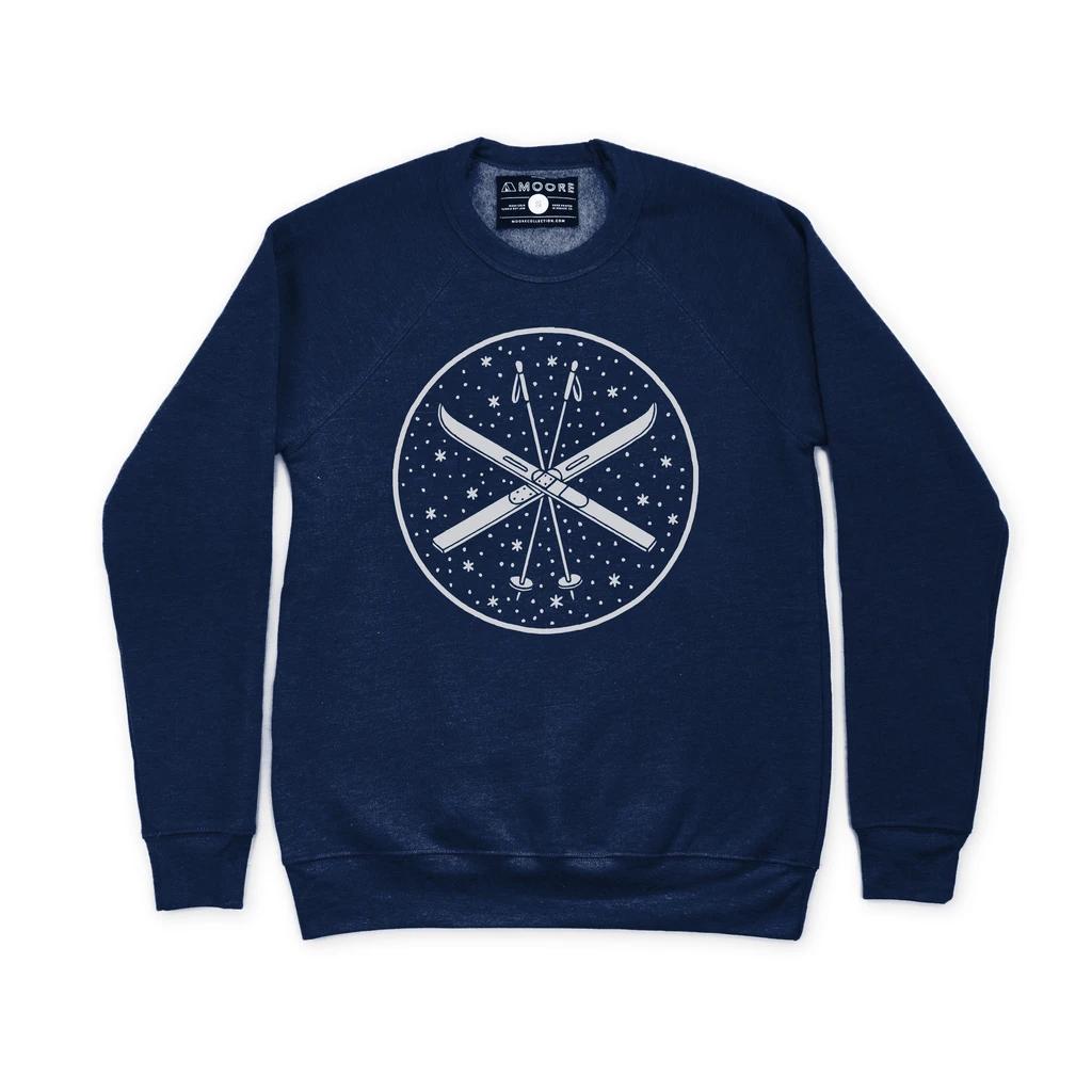 moore collection Ski Crew Neck Sweatshirt Navy