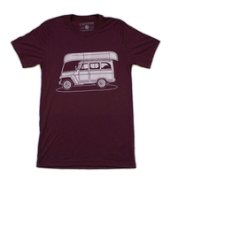 moore collection Willy Wagon Canoe Shirt Maroon