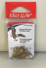Eagle Claw Barrell Swivels: Size 7, Eagle Claw