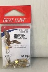 Eagle Claw Barrell Swivels: Size 10, Eagle Claw