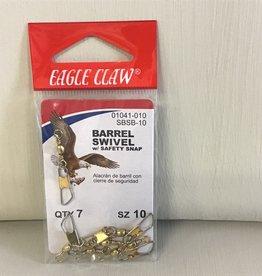Eagle Claw Barrell Swivels: Size 10, Eagle Claw
