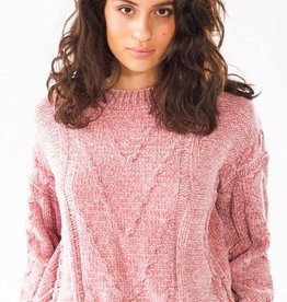 Pink Martini Pink Martini - Pink Chenille Textured Knit Sweater