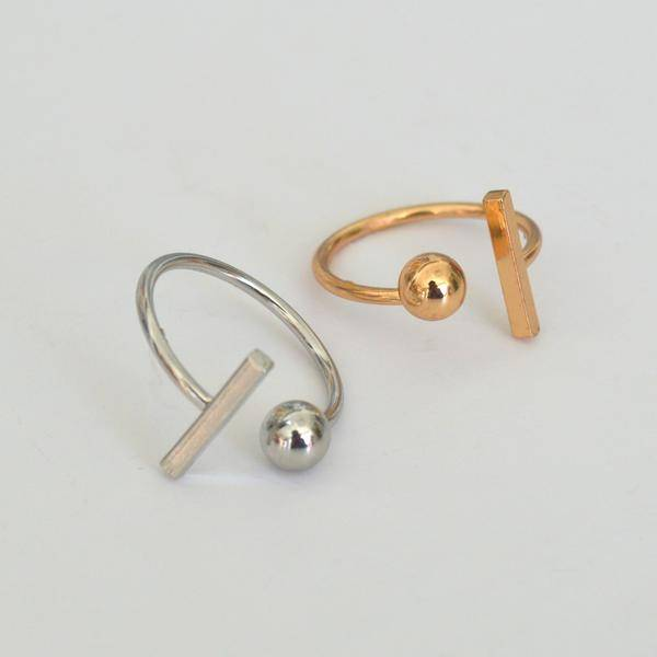 Beck & Boosh Beck + Boosh - Silver Rod + Sphere Ring