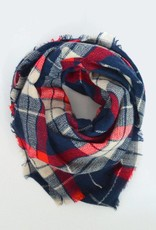 Beck & Boosh Beck + Boosh - Blue/Red Plaid Blanket Scarf