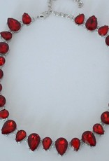 Beck & Boosh Beck + Boosh - Red Teardrop Statement Necklace