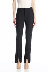 I Love Tyler Madison Tyler Madison - Black High Waisted Front Vent Pull-On Pants