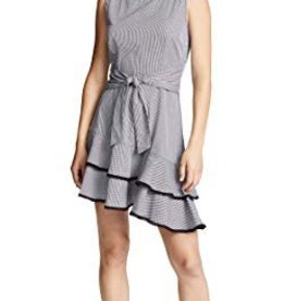 BB Dakota BB Dakota - Gingham Dress w/ Ruffle Bottom + Waist Tie 'Holly Golighty'