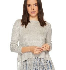 BB Dakota BB Dakota - Oatmeal Knit Sweater w/ Tassel Hem 'Young, Wild & Free'