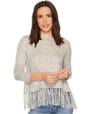 BB Dakota BB Dakota - Oatmeal Knit Sweater w/ Tassel Hem 'Young, Wild & Free'