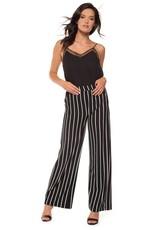 Black Tape Black Tape - Striped Pull-On Wide Leg Pant