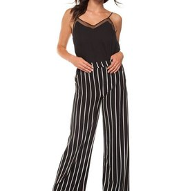 Black Tape Black Tape - Striped Pull-On Wide Leg Pant