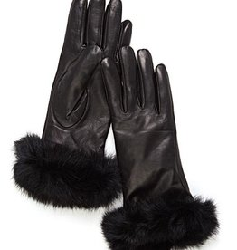 Brume Brume - Leather Gloves w/ Fur Cuffs