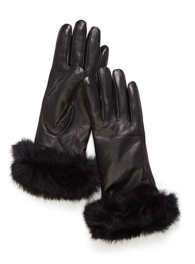 Brume Brume - Leather Gloves w/ Fur Cuffs
