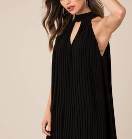 Black Swan Black Swan - Black Pleated Dress w/ Key hole