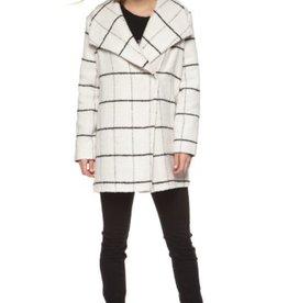 DEX DEX - White & Black Plaid Jacket w/ Wide Collar