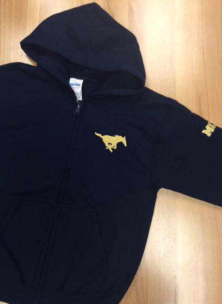 Gildan Navy ZIP Youth Sweatshirt-LS ONLY