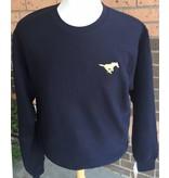 Gildan Navy Crew Sweatshirt-Youth