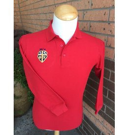 Elderwear Polo Long-Sleeve Red Adult