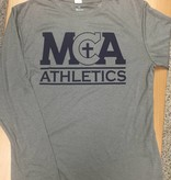 BAW Athletic MS Only-L/S Dri-fit Gray