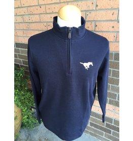 Vantage Navy 1/4 Zip Sweater-Ladies