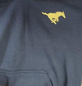 Gildan Navy Hoodie Sweatshirt (no zip)-Youth