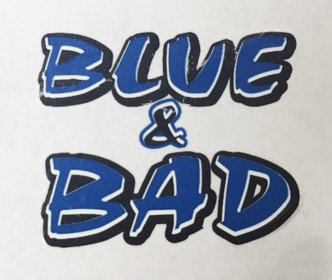 MCA Face Tattoos-Blue&Bad
