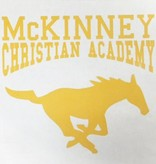 MCA Small Gold Horse Decal