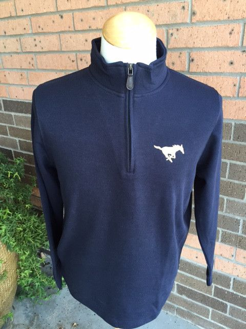 Vantage Navy 1/4 Zip Sweater-Mens