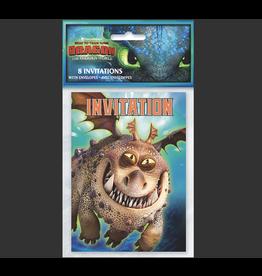 Unique CARTE D'INVITATIONS (8) - DRAGONS