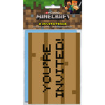 Unique CARTE INVITATIONS (8) - MINECRAFT