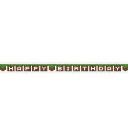Unique *BANNIÈRE HAPPY BIRTHDAY 7PI - MINECRAFT