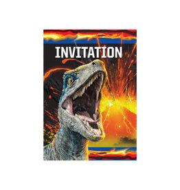 Unique *INVITATIONS (8) - MONDE JURASSIQUE