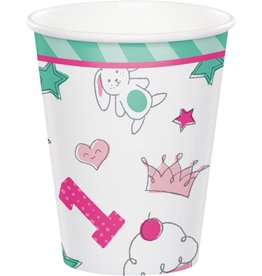 Creative Converting VERRES 9OZ (8) - PETITS DESSINS FILLE