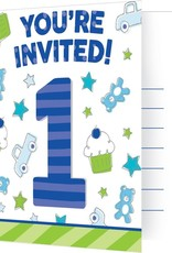 Creative Converting INVITATIONS (8) - PETITS DESSINS GARÇON