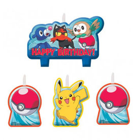 Amscan CHANDELLES D'ANNIVERSAIRE - POKEMON & FRIENDS