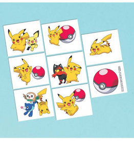 Amscan TATOUAGES (8) - POKEMON & FRIENDS