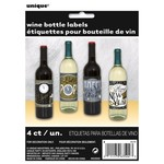 Unique ENSEMBLE DE 4 ÉTIQUETTES À BOISSON - HAPPY NEW YEAR