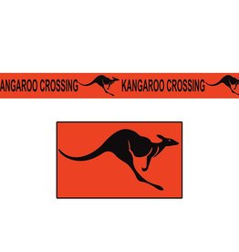Beistle Co. TAPE  ORANGE 50PI - KANGOROO CROSSING