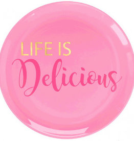 Amscan ASSIETTES EN PLASTIQUE 7.5'' (20) - LIFE IS DELICIOUS