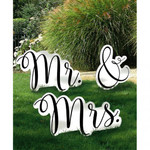 Amscan ACCESSOIRES DE PHOTO GÉANT - MR AND MRS
