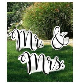 Amscan ACCESSOIRES DE PHOTO GÉANT - MR AND MRS