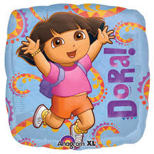 Anagram Ballon Mylar 18po Dora L Exploratrice Party Shop