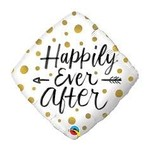 Qualatex BALLON MYLAR 18PO - HAPPILY EVER AFTER