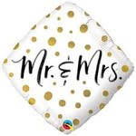 Qualatex BALLON MYLAR 18PO - MR & MRS