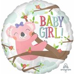 Anagram BALLON MYLAR 18PO - BABY GIRL KOALA