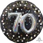 Anagram BALLON MYLAR SUPERSHAPE - 70 ANS 3D